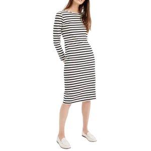 J. Crew | Long Sleeved Striped Cotton Shift Dress